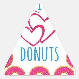 I love donuts poster. triangle sticker