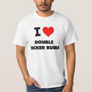 I Love Double Decker Buses T-Shirt