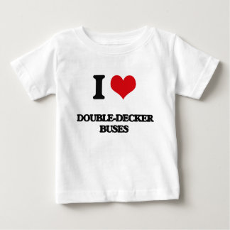 I love Double-Decker Buses T Shirts