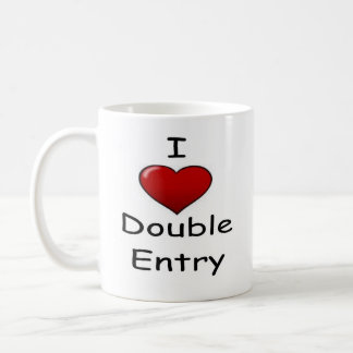 I Love Double Entry (2) Classic White Coffee Mug