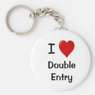 I Love Double Entry! Cheeky Accountant Keychain