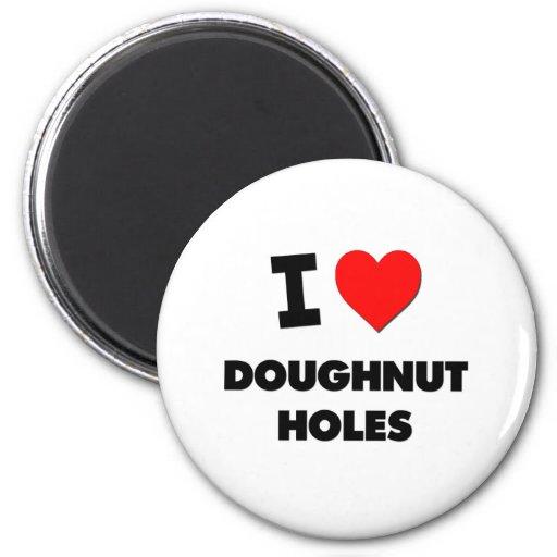 I Love Doughnut Holes ( Food ) Magnets