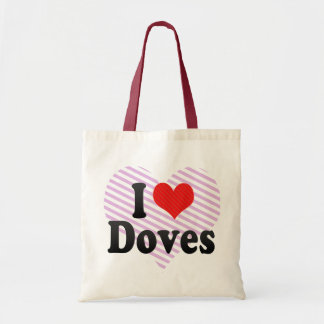 I Love Doves Tote Bag