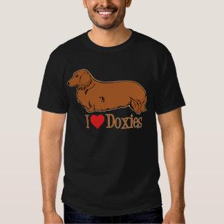 I Love Doxies, lt brown T-shirts