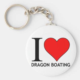 I Love Dragon Boating Range Keychain