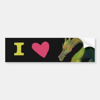 I Love Dragons Bumper Sticker
