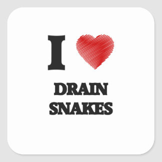 I love Drain Snakes Square Sticker
