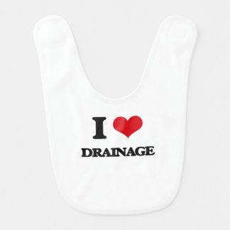 I love Drainage Baby Bib