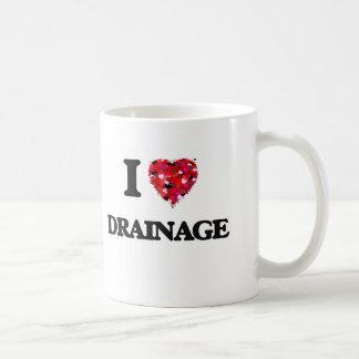 I love Drainage Basic White Mug