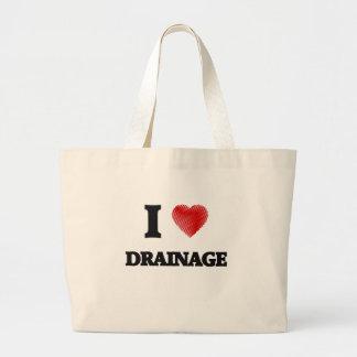I love Drainage Large Tote Bag