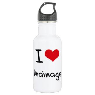 I Love Drainage 18oz Water Bottle