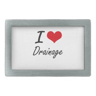 I love Drainage Rectangular Belt Buckles