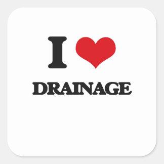 I love Drainage Square Sticker