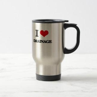 I love Drainage Stainless Steel Travel Mug