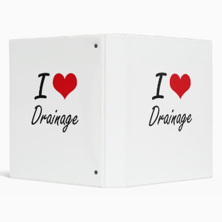I love Drainage Vinyl Binders