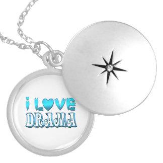 I Love Drama Locket Necklace
