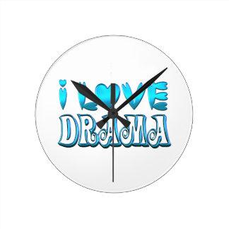 I Love Drama Round Clock