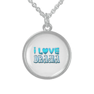 I Love Drama Sterling Silver Necklace