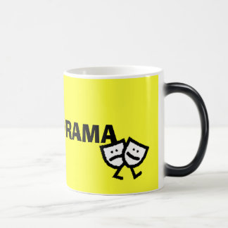 I LOVE DRAMA w/walking masks morphing mug
