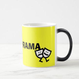 I LOVE DRAMA w/walking masks morphing mug
