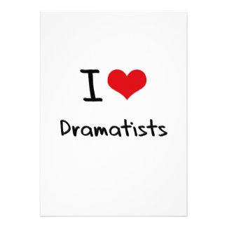 I Love Dramatists Card