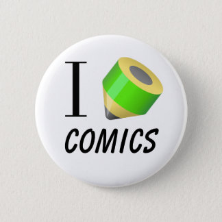 "I love drawing ""Comics"" 2 Inch Round Button"