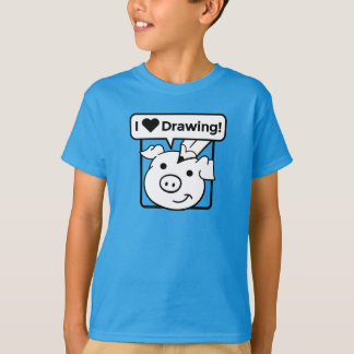 I Love Drawing Kid's T-Shirt