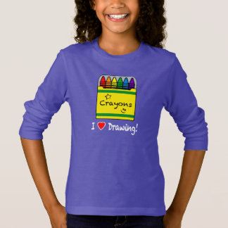 I Love Drawing with Crayons T-Shirt