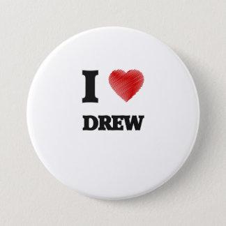 I love Drew 3 Inch Round Button
