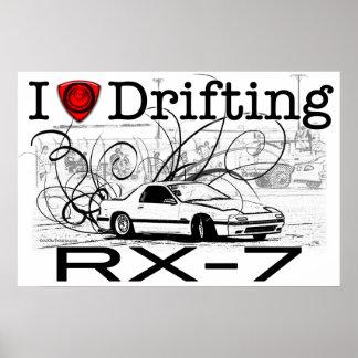 I love drifting RX-7 Poster