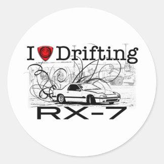 I love drifting RX-7 Stickers