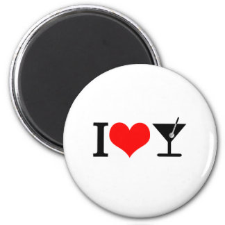 I love drinks 2 inch round magnet