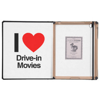 i love drive-in movies case for iPad