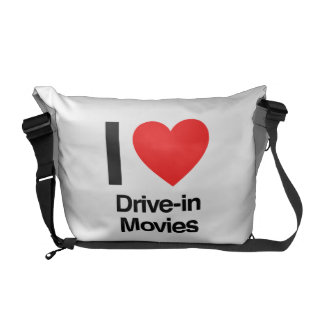 i love drive-in movies messenger bag