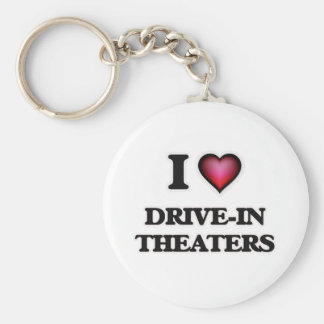 I love Drive-In Theaters Basic Round Button Keychain