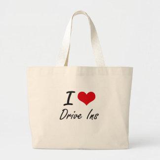 I love Drive Ins Jumbo Tote Bag
