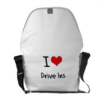 I Love Drive Ins Messenger Bags