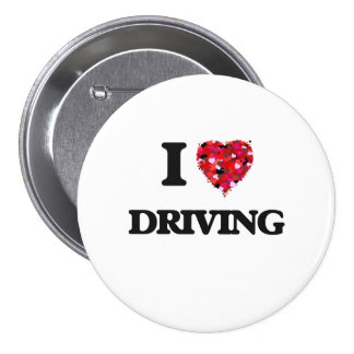 I love Driving 3 Inch Round Button