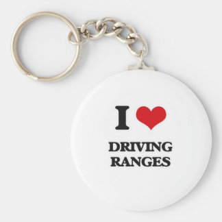 I Love Driving Ranges Keychain