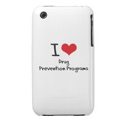 I Love Drug Prevention Programs Case-Mate iPhone 3 Cases