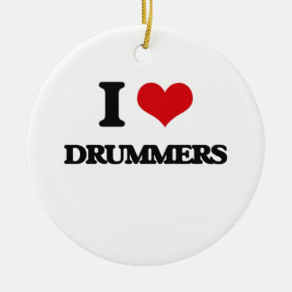 I love Drummers Christmas Ornaments
