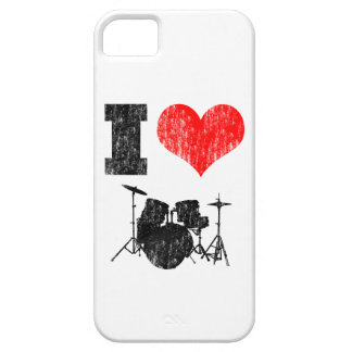 I Love Drums Distressed iPhone 5 Cases