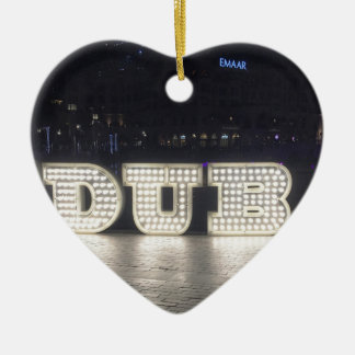 I Love Dubai Ceramic Ornament