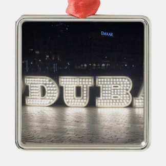 I Love Dubai Metal Ornament
