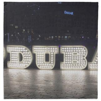I Love Dubai Napkin