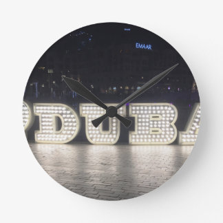 I Love Dubai Round Clock