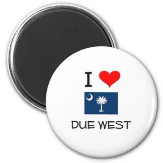 I Love Due West South Carolina Fridge Magnet
