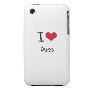 I Love Dues Case-Mate iPhone 3 Case