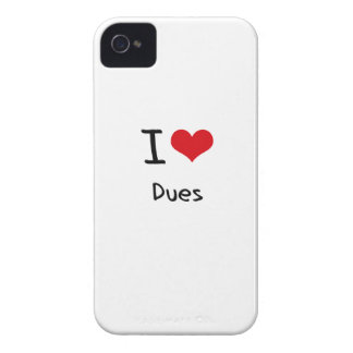 I Love Dues iPhone 4 Covers