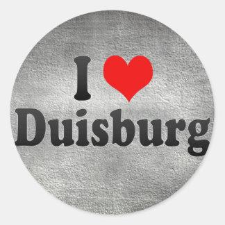I Love Duisburg, Germany Classic Round Sticker